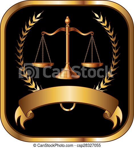 Ley o abogado sellan oro - csp28327055