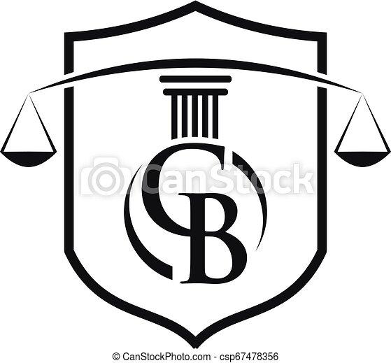 Icono Pillar para legal, abogado, la plantilla de vector de logo de la oficina de la ley - csp67478356