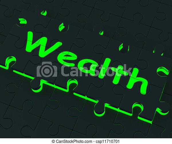 abondance, puzzle, projection, richesse, richesse - csp11710701