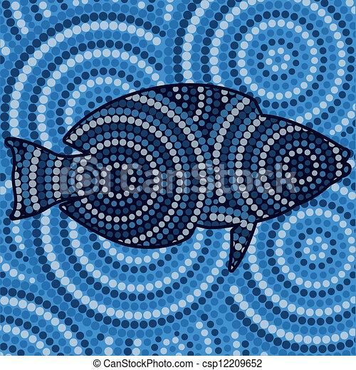 Aboriginal Art - csp12209652