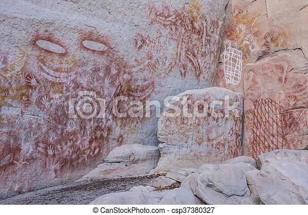 Aboriginal Rock Art At Carnarvon Gorge Queensland Australia