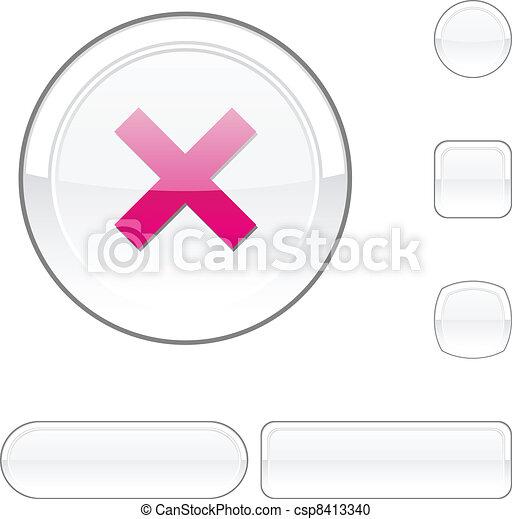 Abort white button. - csp8413340