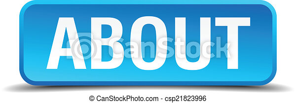 About blue 3d realistic square isolated button - csp21823996