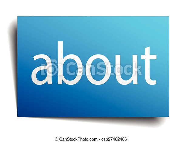 about blue square isolated paper sign on white - csp27462466