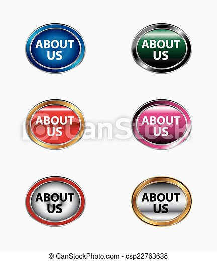 About us icon button - csp22763638