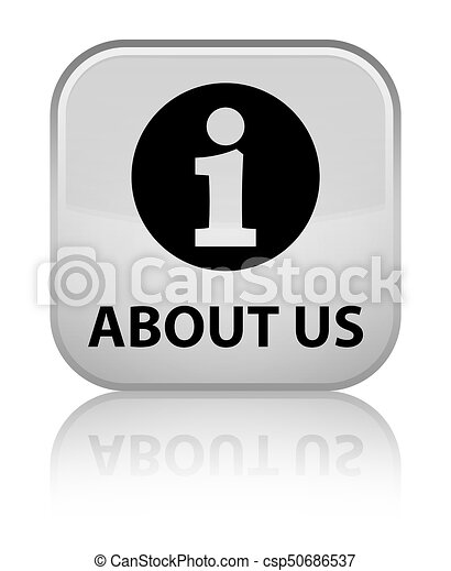 About us special white square button - csp50686537