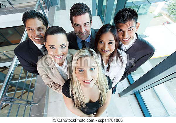 above view of group business team - csp14781868