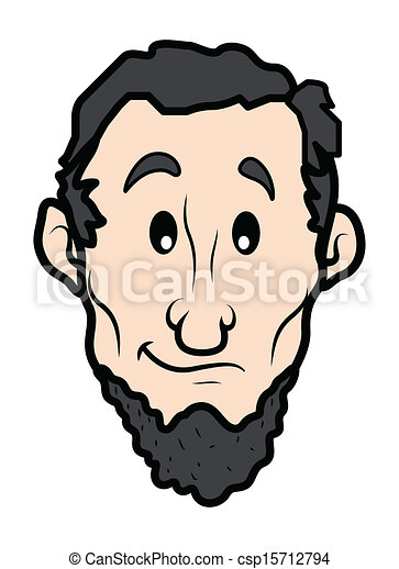 Drawing Art Of Cartoon Abraham Lincoln Character Vector Illustration