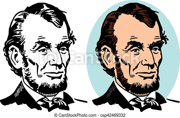 abraham lincoln a portrait of abe lincoln the 16th president of the rh canstockphoto com abraham lincoln clip art face abraham lincoln hat clipart