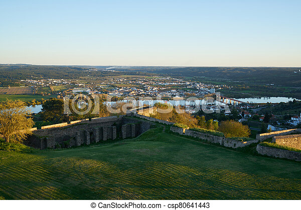 Abrantes landscape view at sunset from the castle, in Portugal - csp80641443
