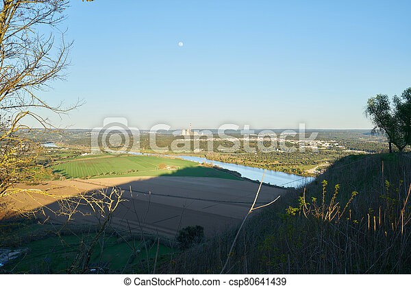 Abrantes landscape view at sunset from the castle, in Portugal - csp80641439