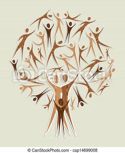 Abraza los árboles de diversidad - csp14699008