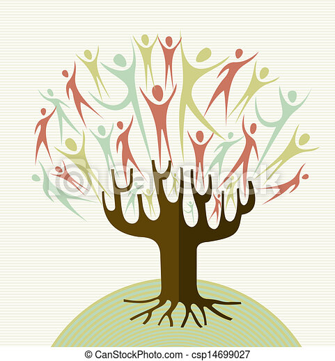 Abraza los árboles de diversidad - csp14699027