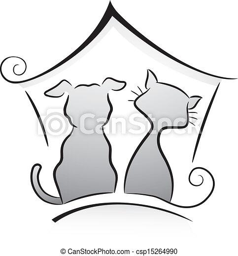 abri, chien, chat - csp15264990