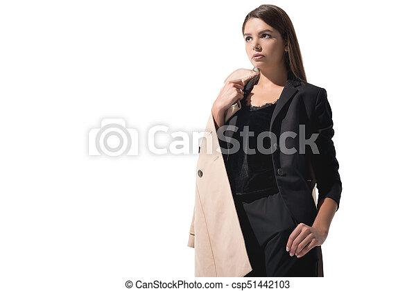 Mujer aislado impermeable mujer elegante Abrigo hermosa Y68Zqw