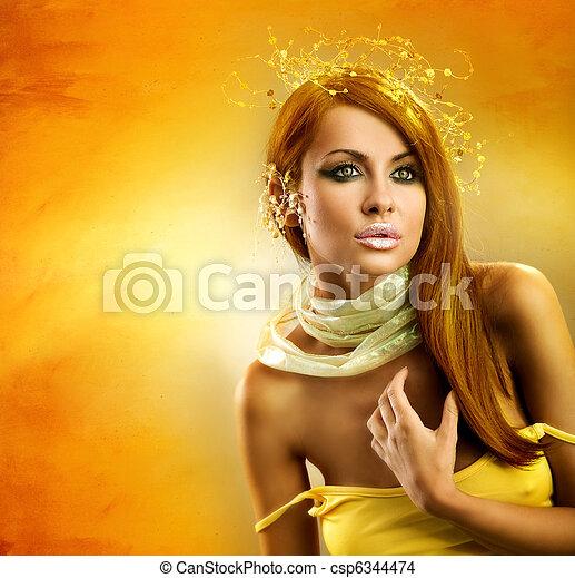 abrutissant, beauté, !, parfait, maquillage - csp6344474
