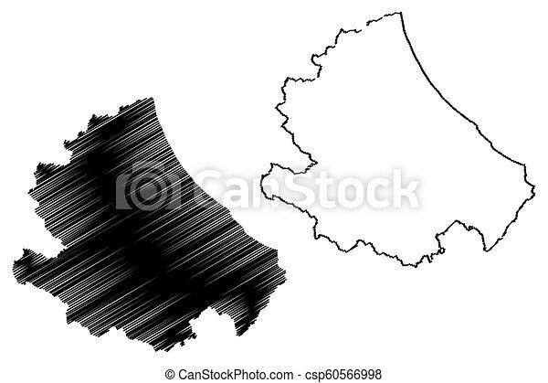 Map Of Italy Abruzzo Region.Abruzzo Map Abruzzo Region Of Italy Map Vector Illustration