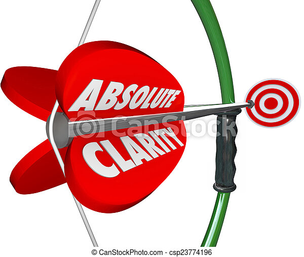 Absolute Clarity Words Bow Arrow Perfect Focus Aim Targeting - csp23774196