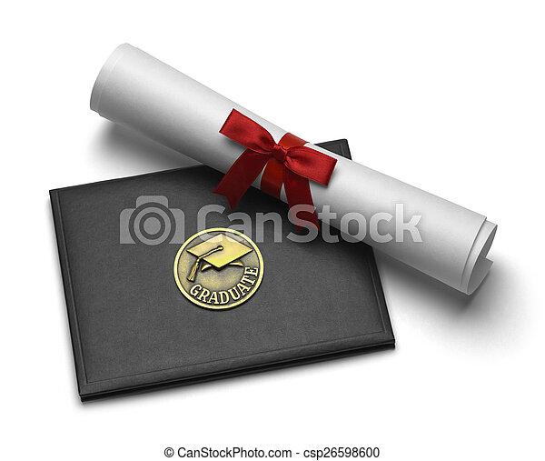 absolwent, woluta, dyplom - csp26598600