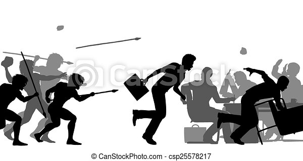 Adquisición empresarial hostil - csp25578217