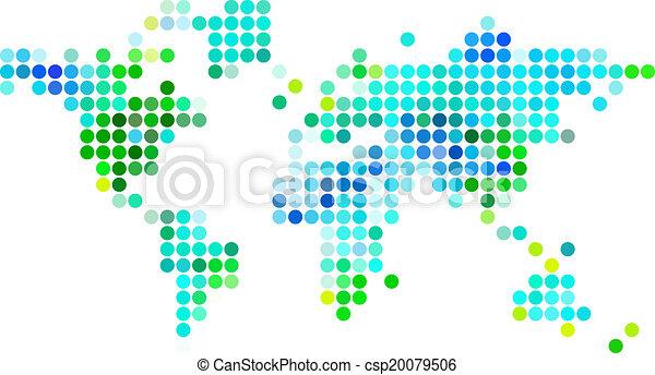 Abstarct world map green blue dots blue and green abstract abstarct world map green blue dots csp20079506 gumiabroncs Choice Image