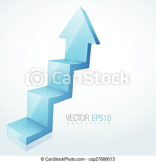 abstract 3d arrow design - csp27686013