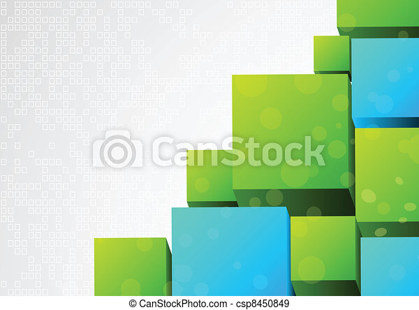 Abstract 3d background with block - csp8450849