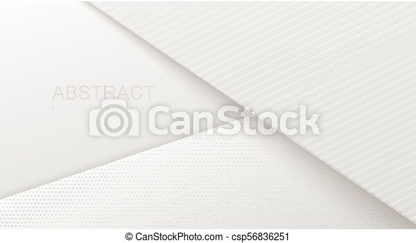 Abstract 3d background with white paper layers. - csp56836251