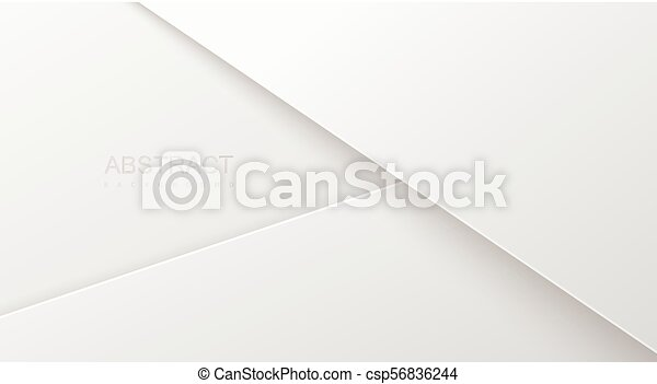 Abstract 3d background with white paper layers. - csp56836244