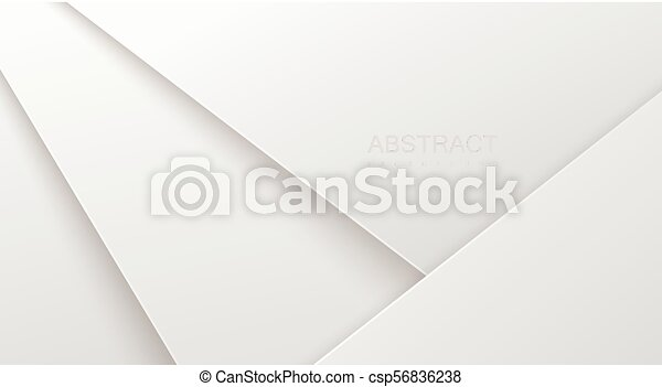 Abstract 3d background with white paper layers. - csp56836238