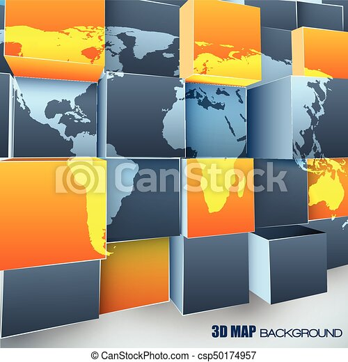 Abstract 3d background with world map abstract 3d background with abstract 3d background with world map csp50174957 gumiabroncs Choice Image