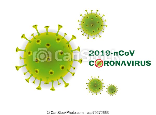 Abstract 3d Coronavirus background. - csp79272663