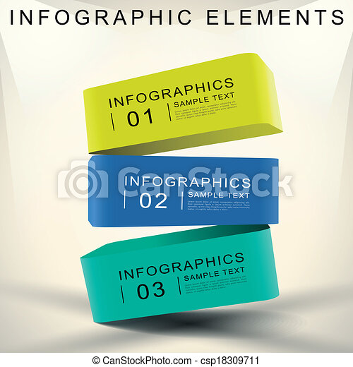 abstract 3d cube infographics - csp18309711