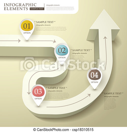 Abstract 3d flow chart infographics vector abstract flow chart abstract 3d flow chart infographics csp18310515 ccuart Image collections