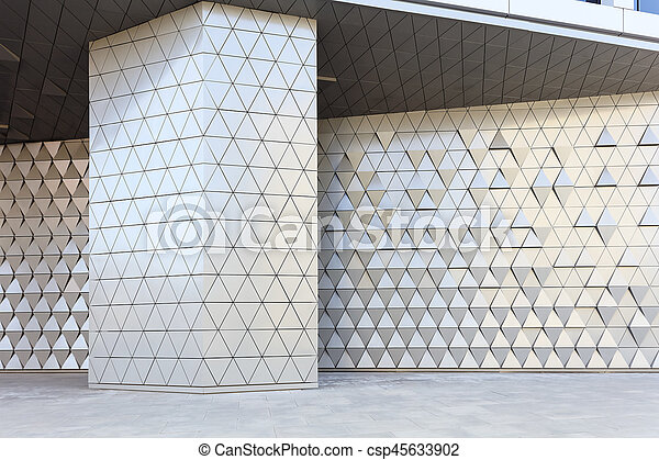 Abstract 3d illustration architectural pattern - csp45633902