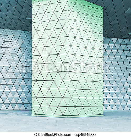 Abstract 3d illustration architectural pattern - csp45846332