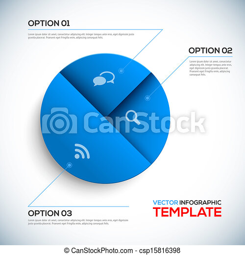 Abstract 3D Infographic template - csp15816398