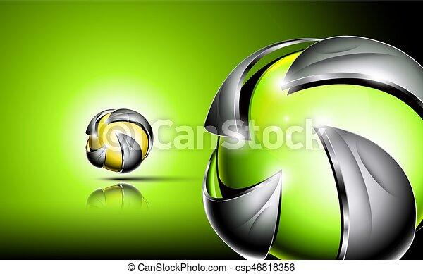 Abstract 3d logo design - csp46818356