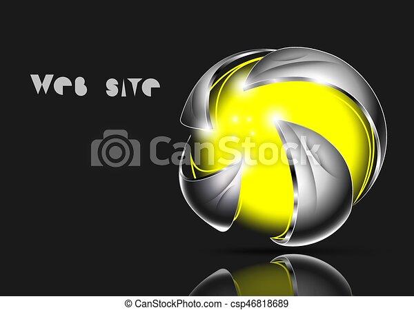Abstract 3d logo design - csp46818689