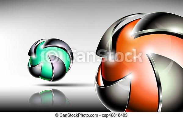Abstract 3d logo design - csp46818403