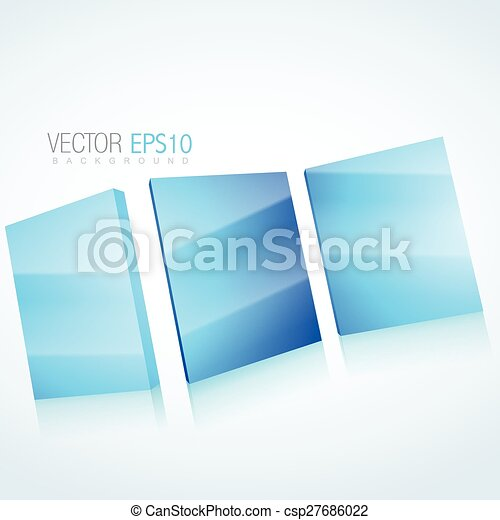 abstract 3d mirror background - csp27686022
