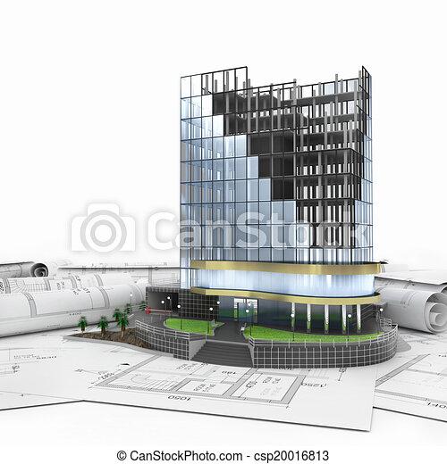 abstract 3d of building development - csp20016813
