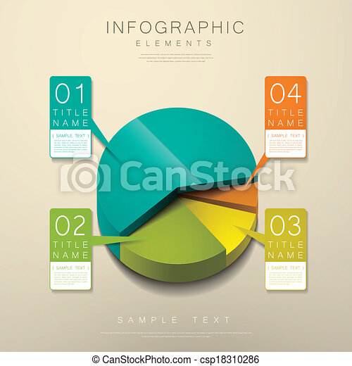 abstract 3d pie chart infographics - csp18310286