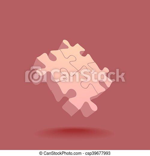 Abstract 3D puzzle design element - csp39677993