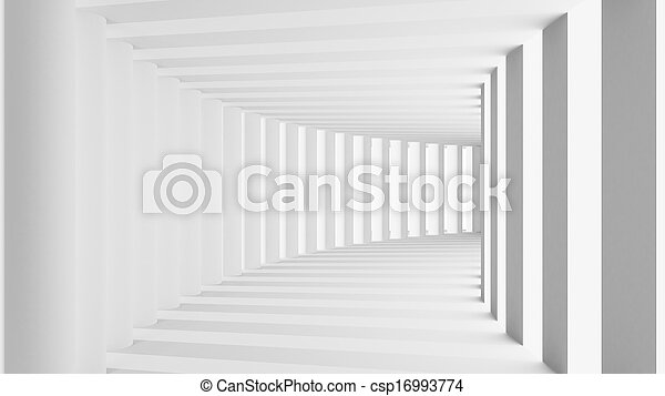 Abstract 3d render tunnel with arch - csp16993774
