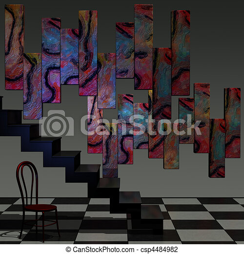 Abstract 3D Room - csp4484982