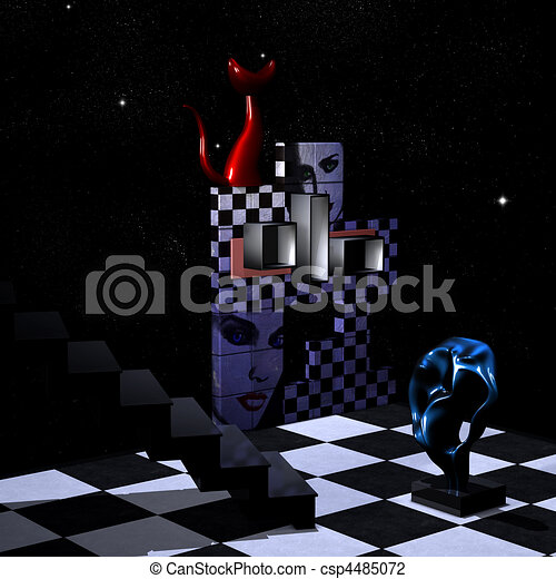 Abstract 3D Room - csp4485072