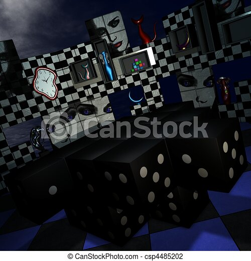 Abstract 3D Room - csp4485202