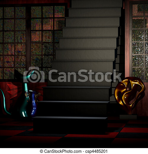Abstract 3D Room - csp4485201