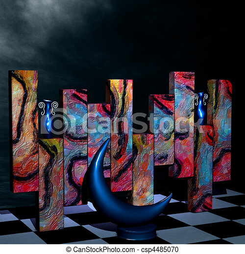 Abstract 3D Room - csp4485070